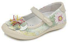 Garvalin Girls Slim Fitting Shoe With Flower Design