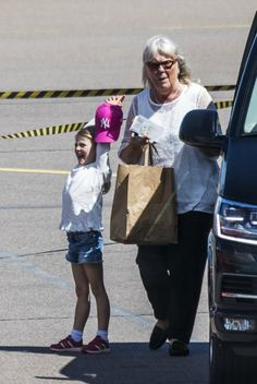 Crown Princess Victoria, Estelle, Oscar and nanny Elisabeth Zimmerman left already from Kalmar Airport to Stockholm.