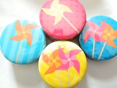Pocket Mirror-Colorful Pinwheel - Party favor, Shower Favor, Compact Mirror, Birthday, Goodie Bags, Bridal Shower,. $4.05, via Etsy.