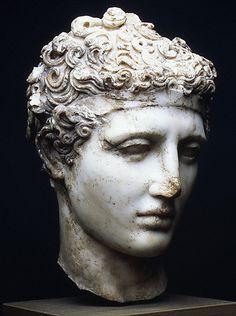 Cabeza de atleta romana (ca 136-192 d.C.)
