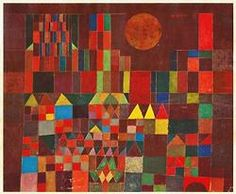 Paul Klee, Castle and Sun, Burg und Sonne, 1928. Oil on canvas. Private Collection. Via wiki