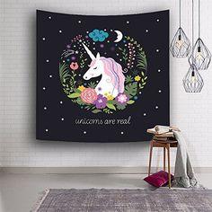 Unicorn Tapestry Wall Hanging Wall Art Tapestry For Home Decor/Birthday Party Decor #unicorn #uniquegifts #borntounicorn #kidsgift #blanket #unicorngift #walldecor #unicornblanet #unicorngifts   borntounicorn.com