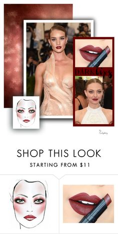 """""""Burgundy Lips"""" by karlajkitty ❤ liked on Polyvore featuring beauty, Fiebiger, peach, burgundy and darklips"""