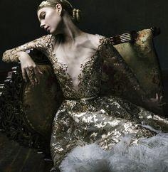 "runwayandbeauty: "" Malyarova Olga Haute Couture Fall 2015. """
