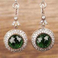Hurrem Sultan Earrings Round Emerald Turkish Ottoman Jewelry 925 Sterling Silver: Ottoman Jewels, Hurra