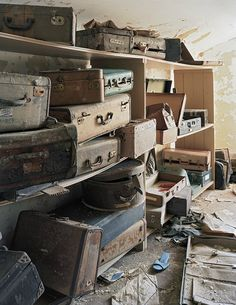 "This pic is captioned ""Patient Suitcases, Bolivar State Hospital, TN"" in the new book, ASYLUM by Christopher Payne.  It's a visual history of what's become of these buildings, once ubiquitous, now largely forgotton."