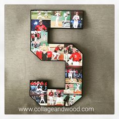 The most thoughtful gift for your boyfriend to celebrate his football/basketball/soccer/baseball career? Yes, we can make that! We hear you #bestgirlfriendever #baseball #seniornight www.collageandwood.com