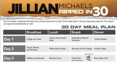Click the photo for Jillian's 30 Day Meal Plan free and online! This link will take you to her suggested meal plan and includes tons of yummy vegan options! :)