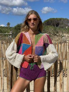 Crochet Coat, Crochet Clothes, Diy Clothes, Patron Crochet, 2 Piece Outfits, Crochet Fashion, Hippie Boho, Hand Knitting, Summer Outfits