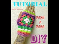 guantes Tejidos calentadores de manos echos con granny square ******Tutorial paso a paso,,muy facil!! muy bonitos!! *************** Fingerless Gloves, Arm Warmers, Youtube, Artwork, Patterns, Sweaters, Winter, Fingerless Mittens, Crochet Baby Shoes