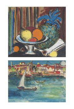 Krishnaji Howlaji Ara (1914-1985) Untitled (still Life); Untitled (ballard Pier)