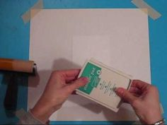 Stampin Up! How to Video: Brayering Technique #2