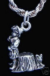 where oh where has my little dog gone charm silver 925 Real Sterling silver 925 pendant Charm jewelryLike this item find it at https://www.etsy.com/shop/princeofdiamonds