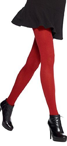 4734c002f9d3e Hue Womens Tights Diamond Maze Control Top ML Deep Red * You can find more  details