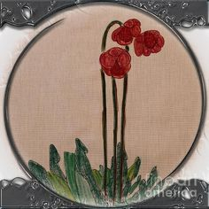 Newfoundland Pitcher Plant - Porthole Vignette by Barbara Griffin. This vintage Newfoundland scene is a drawing on fabric of a beautiful pitcher plant. The pitcher plant is the provincial flower emblem of Newfoundland Labrador. Newfoundland Map, Newfoundland And Labrador, Tartan Crafts, Plant Tattoo, Pitcher Plant, Plant Drawing, Garden Boxes, Rug Hooking, Embroidery Art