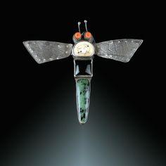 Nancy Daniels Hubert | Photo: Steve Rossman | in Jeanie Pratt's Bug Brooch Collection