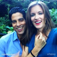 Anna and Adam share a laugh while filming Episode 6 of #Reckless!