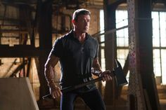 Sylvester Stallone in Bullet to the Head (2012) STALLONE IS VERY ANGRY!! HE WANTS TO KILL HIM!!
