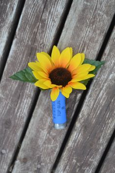 Sunflower Boutonniere Silk Wedding Flowers Shotgun by MyDayBouquet, $12.00