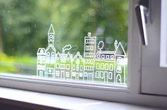 Huizen 1 #raamtekening door Daniëlle vd M.