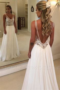 c9237df06e7 Charming V-Neck Sleeveless Appliques A-Line Floor-Length Prom Dress BC0875