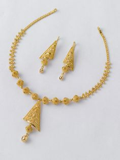 Beautiful Necklace set only from the gold factory: 1  Necklace - 9.000 gm Rs.32100/- Earrings - 3.500 gm Rs.12500/-