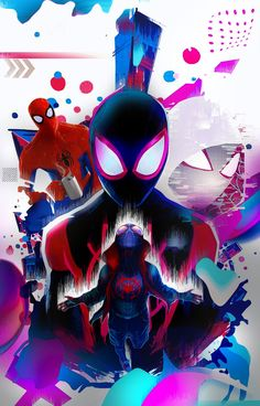 Sony Animation Studios and directors Peter Ramsey, Rodney Rothman, and Bob Persichetti go buck wild with the fantastic Spider-Man: Into the Spider-Verse. Ditching continuity altogether while… Amazing Spiderman, Black Spiderman, Spiderman Spider, Marvel Comic Universe, Marvel Art, Marvel Heroes, Marvel Avengers, Ps Wallpaper, Marvel Wallpaper