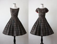 1950s plaid party dress by 1919vintage on Etsy, $152.00