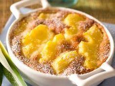 Découvrez la recette Clafoutis d'ananas à la vanille sur cuisineactuelle.fr.
