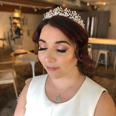 """GLAM IN VAN BEAUTY on Instagram: """"Blush tones and a tiara 💕 Congrats to this gorgeous bride today 😊❤️"""""""