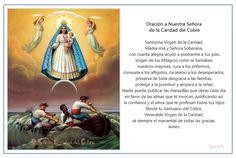 Plegarias o invocaciones a Nuestra Señora de la Caridad, la santa patrona de Cuba, para pedirle que interceda por nosotros ante Dios por cualquier problema, enfermedad o necesidad de nuestros seres queridos.