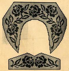 Без заголовка. Обсуждение на LiveInternet - Российский Сервис Онлайн-Дневников Col Crochet, Filet Crochet Charts, Crochet Motifs, Crochet Collar, Irish Crochet, Crochet Patterns, Cross Stitch Art, Cross Stitch Flowers, Vintage Knitting