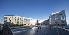 Vandkanten er historien om omdannelsen af Stavangers tidligere industrihavn til et aktivt og attraktivt boligområde. Hvor tung industri tidligere adskilte byen fra bugten står i dag et af Europas største boligbyggerier i træ med en rigdom af pladser og passager, der giver rum for havnens mange livsformer – fiskende, sejlende, løbende, legende og promenerende. Læg dertil en offentlig promenade, der strækker sig helt ind til den historiske bykerne, så byen og bugten bindes sammen på ny.