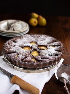 Čokoládový koláč s hruškami Apple Pie, Cereal, Goodies, Baking, Breakfast, Food, Sweet Like Candy, Morning Coffee, Gummi Candy