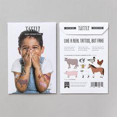 TATTLY farm animals tattoo set