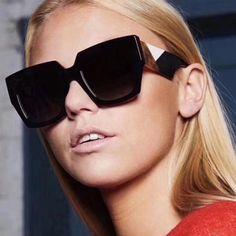 99465c81f0 Winla Fashion Design Women Sunglasses Vintage Retro Oversized Square Frame Sun  Glasses Female Unique Style Uv400 Oculos Wl1217
