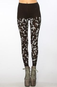See You Monday The Cross My Heart Leggings in Black See You Monday. $27.00