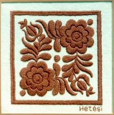 Chain Stitch Embroidery, Embroidery Motifs, Learn Embroidery, Floral Embroidery, Machine Embroidery, Embroidery Designs, Stitch Head, Hungarian Embroidery, Butterfly Embroidery