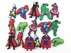 16 Avengers Iron Man Captain America Shoe Charms for Fit Croc Shoes