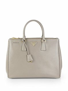Prada - Saffiano Lux Double-Zip Tote Bag - Saks.com - seen on Scandal (Olivia Pope)