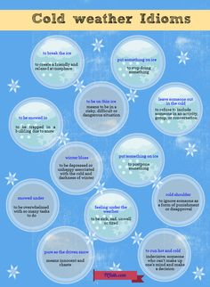 Let's learn new English words through understanding idioms--winter idioms to be exact. Let's make learning #English fun.