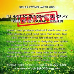87 Solar Myths - Contact Andrew Wright (303) 222-8305 or Andrew.Wright@RGSEnergy.com - http://ift.tt/2ddYau0 #87solarmyths #solarmyths #solarwright #solar #renewableenergy #busted #confirmed #solarporn #solarpanel #rgsenergy #mythbusters
