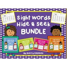 Sight Words Hide and Seek (Set 3) Sherry Clements on Educents. http ...