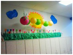 Floating Caterpillar With Lanterns, Preschool Classroom!