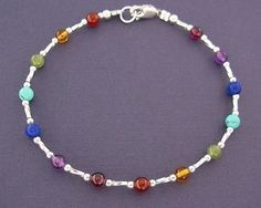 ANKLET Gemstone Rainbow garnet jade amethyst by anklets on Etsy, $25.00
