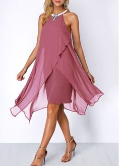 Dresses For Women V Dress, Chiffon Dress, Party Dress, Dusty Pink Dresses, Mother Of Groom Dresses, Special Occasion Dresses, Pretty Dresses, Dresses For Sale, Beautiful Outfits