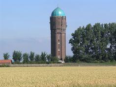 Zuidzijde Watertoren 4655 - Lijst van watertorens in Nederland - Wikipedia Tower Of Power, Ludwig Mies Van Der Rohe, Tank I, Water Tower, Water Supply, Water Tank, Architecture Details, Belgium, Netherlands