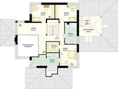 Projekt domu Dom z widokiem 269,44 m² - koszt budowy - EXTRADOM Big Houses Inside, House Inside, High Ceiling Living Room, Living Room Modern, Luxury House Plans, Modern House Design, Bungalow, Floor Plans, How To Plan