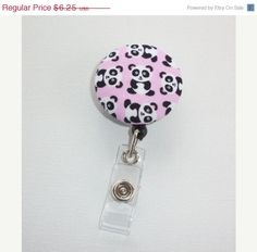 SALE  Retractable ID Badge Holder Reel   Fabric Button  by Laa766, $5.75  What could be more fun then these cute retractable Badge Id Holders!!