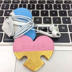 Keep you earphones organized with this holder made with air dry clay!